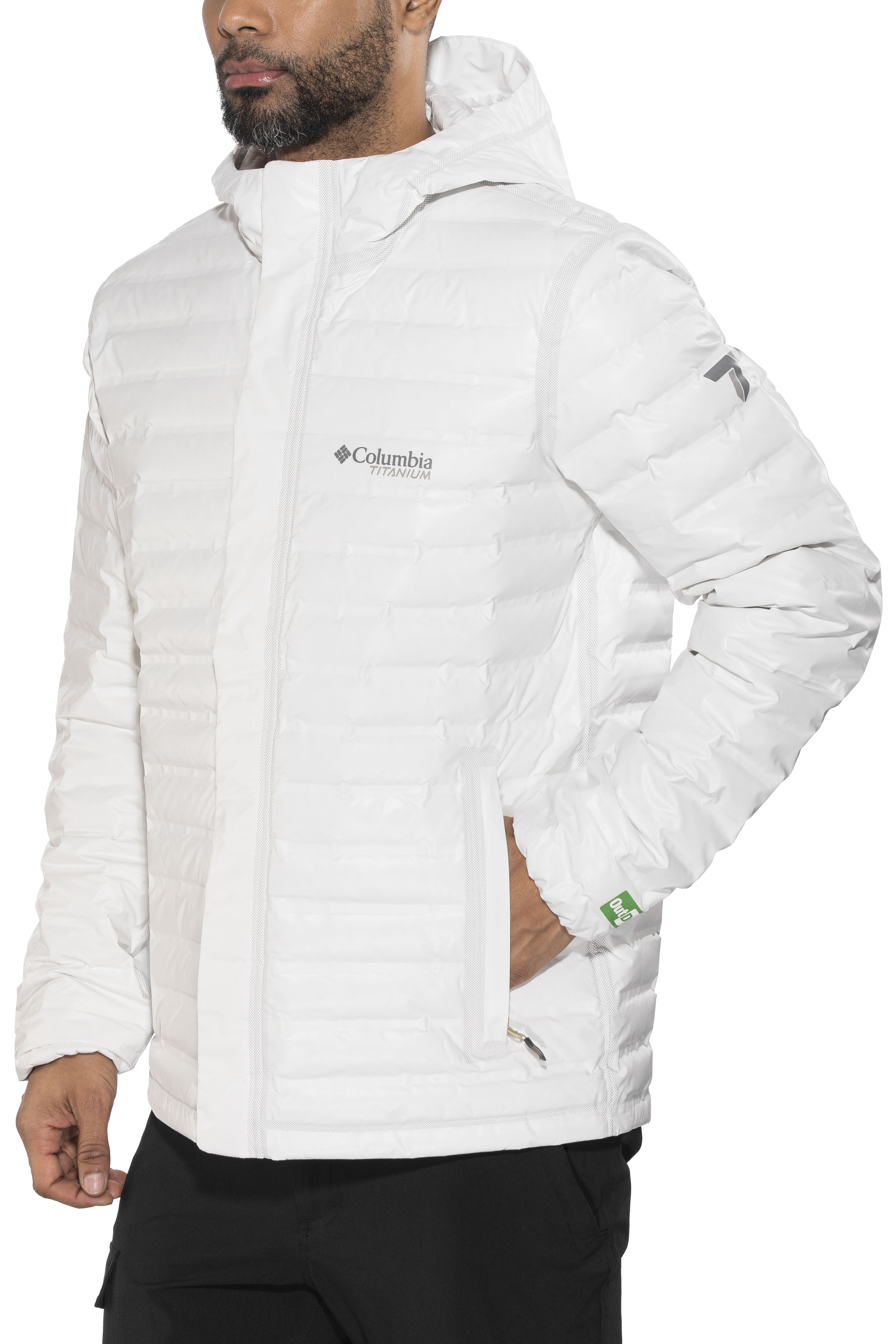Columbia Outdry Ex Eco Down Jacket Men White Undyed At